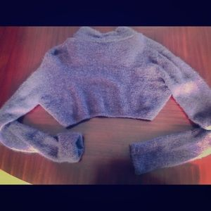 Backless Cropped Mohair Sweater-Angelo Marani